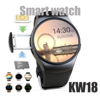 Wholesale waterproof camera watches online - KW18 Smart Watch Bluetooth Heart Rate Monitor Intelligent smartWatch Support SIM TF Card for ios and andriod Phone GT08 DZ09 A1