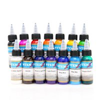 Wholesale Tattoo Embroidery Machine - 14 color permanent tattoo pigment tattoo ink embroidery machine 30ml beauty tools