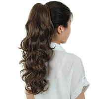 Wholesale quot Clip in Ponytail g Claw Clip in Ponytail Hair Extension Wavy Synthetic Curly Claw Clip Ponytail coleta postizos Pony Tail