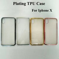 Iphone Direct Fábrica Baratos-Plating Clear Soft TPU Case Anti prueba de choque resistente a la suciedad del teléfono Case Factory Ventas directas para Iphone X