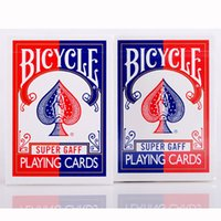 Wholesale Bicycle Deck Cards - Red Blue 2015 Bicycle Super Gaff Deck Playing Cards Magic Category Poker Cards for Professional Magician
