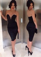 Wholesale Tall Shortest Skirt - Black Strapless Tall Waist Dress With Sexy Backless Package Buttocks Short Skirt 2017 Hot Selling New Style