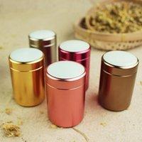 Wholesale Aluminum Can Covers - Porcelain Metal Tea Cans Aluminum Alloy Box Packaging Mini Seal Jars Storage Vacuum Lid Mint Packing Case ZA3997