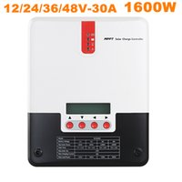Wholesale Solar Controller Mppt 48v - Hot Sell Solar Controller 30A MPPT Solar Charge Controller 12V 24V 48V Solar Regulator Charger 1700W Battery Charge Controller