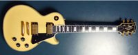 Wholesale Electric Guitar Yellow Inlay - Custom RANDY RHOADS Signature White Aged Yellow Metal Legend Electric Guitar LP Ebony Fingerboard White MOP Block Inlays Gold Hardware