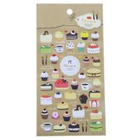 Wholesale Wholesale Plain Notebook - Wholesale- Diy Notebook Funny Plain Cake Album Envelope Decoration Scrapbook Pvc Sticker