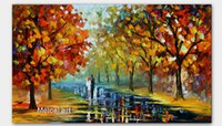 Wholesale Hot Sell Modern Wall Painting Home Decorative Art Picture Paint Canvas Prints Color painting Bridge Architecture Take a walk