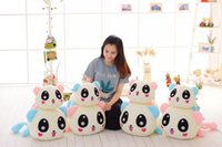 Wholesale lead farm - Colorful luminous led light up plush toys stuffed panda doll glowing baby boy girlfriend valentine gift