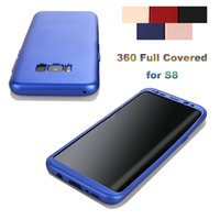 Wholesale Soft Case Zip - For Galaxy S8 Phone Case 360 Degree Full Covered Luxury Soft TPU Back with PC Front Anti-Drop Phone Case 5 Colors Zip Bag