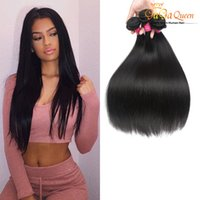 Wholesale Black Brazillian Hair - Wholesale Brazillian Virgin100% Human Hair Weaves 4 Bundles Brazilian Peruvian Malaysian Straight Hair 100g pcs Extensions Natural Black