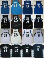 Wholesale Butler Jerseys - 2017 New 23 Jimmy Butler Jersey Men 32 Karl-Anthony Towns 9 Ricky Rubio 22 Andrew Wiggins 8 Zach LaVine Basketball Jerseys Black Blue White