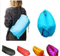 Wholesale Inflatable Sofa Furniture - Lounge Sleep Bag Lazy Inflatable Beanbag Sofa Chair, Living Room Bean Bag Cushion, Outdoor Self Inflated Beanbag Furniture 10PCS DHL free