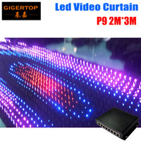 Wholesale Dj Cloths - P9 2M*3M PC Mode Led Video Curtain Free Shipping with online PC dmx Controller for DJ Wedding Backdrops Event Nightclub LED Vision Cloth