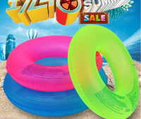 Anillo de natación inflable de color fluorescente Pool Float Mattress Mat Natación Life Buoy para adultos Niños Beach Summer Water Game Party Toy