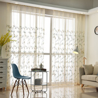Wholesale Embroidered Tulle Curtains - New Arrival Sheer Curtains Free Shipping Flower Embroidered Curtain for Living room Bedroom sitting room embroidered voile Tulle curtains