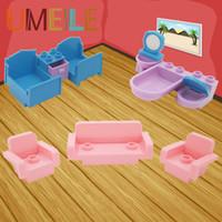 Wholesale Princess House Set - Wholesale- UMEILE 10Pcs set Original City Princess Girl Friend Room Bed Drawer Sofa Wash Tub Closestool Big Block Baby Toys Play House