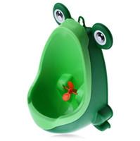 ingrosso formazione dell'urina-Nuovo arrivo Baby Boy Vasino Toilette Formazione Rana Bambini Stand Verticale Orinatoi Ragazzi Penico Pee Infante Toddler a parete