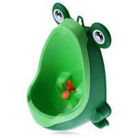 eğitim pisuarları toptan satış-Yeni Varış Erkek Bebek Lazımlık Tuvalet Eğitimi Kurbağa Çocuk Standı Dikey Pisuar Erkek Penico Işemek Bebek Yürüyor Duvara Monte