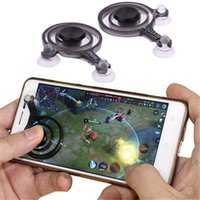 Spiel Mobile Joystick Telefon Mini Spiel Rocker Touchscreen Joypad Tablet Sauger Wireless Game Controller für iPad iPhone Handy 2pcs / Set