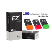 Wholesale Tattoo Needles Magnum Assorted - 100 PCS Assorted EZ New Revolution Needle Cartridges Liner Shader Magnum Tattoo Supply for Rotary Tattoo Machine Free Shipping