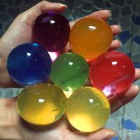 gelkugeln spielzeug großhandel-Wholesale- 49pcs / lot kugelförmige 10-12mm weiche Kristallboden-Schlamm-wachsende Wasser-Kugeln Kindspielzeug-Hydrogel-Gel-Ausgangsdekoration-Wasser-Korne NT003