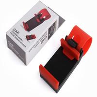universal-fahrradhalterung großhandel-Auto Streeling Lenkrad Cradle Holder Clip Auto-Fahrradhalterung für iPhone 7 7 plus 5 6 6 plus Samsung s5 S4 HINWEIS 2 GPS mit Kleinpaket