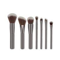 Wholesale Gun Powder Wholesalers - 7pcs set Pro Makeup Brushes Set Foundation Blending Powder Eyeshadow Contour Concealer Blush eyebrow brush gun black color