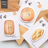 Vente en gros- Good Morning Breakfast Biscuits Memo Pad N Times Notepad Notes collantes Memo Gift Papeterie Détaillant