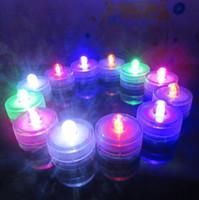 Wholesale Waterproof Led Table - Submersible Waterproof LED Tea Light Candle Lamp Wedding Floralytes Christmas Valentine Party Vase Table Decor CCA7814 960pcs