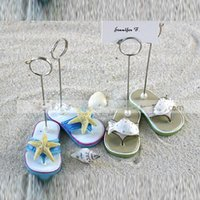 Wholesale Green Confetti - Wedding supplies wedding table card folder beach theme wedding starfish   fish slippers seat folder a pair