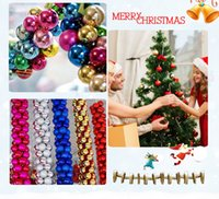 Wholesale Plastic Party Supplies - Christmas Ball Ornament Shatterproof Balls 24 43pcs-Set Xmas Muticolor Trees Wedding Parties Mini Tree Decorations For Party Supplies