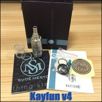 Wholesale Electronic Cigarette V5 Atomizer - Wholesale-kayfun 4 upgrad kayfun v4 lite atomizer rebuildable atomizers electronic cigarette fit vamo v5 v6 battery mod