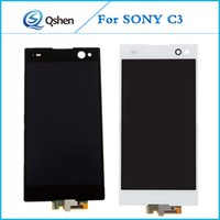 Display LCD per Sony C3 Display Touch Screen Digitizer Assemblaggio completo Riparazione originale di qualità