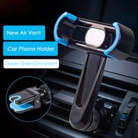 iphone luftentlüftung großhandel-NEUE 360 Grad Universal Handy Auto Halter Air Vent Halterung Ständer Halter für iPhone 7 Plus Auto Outlet Mount Smartphone mit Kleinkasten