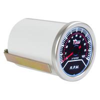 gabarit tactile de 52 mm achat en gros de-2 pouces 52mm 0 ~ 10000RPM voiture blanche LED Tachymètre Tachymètre Tachymètre Universel LED RPM CEC_523
