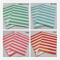Wholesale Cheap Christmas Gifts For Babies - Wholesale- Cheap 25 Pcs horizontal Striped Favor Bags Kraft Paper Bag Small Gift Bags Candy Bags For Wedding Baby Shower Christmas Hot sale