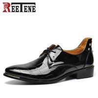 Wholesale Bronze Mens Dress Shoes - Rivets Flats Men Shoes Business Dress Men Shoes Fashion Breathable Leather Casuals cheap mens dress Shoes 2017 New Arrival Plus Size