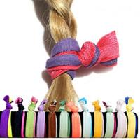 rabo de cavalo chinês venda por atacado-Multicolor moda Elastic Headbands Nó Fitas de Corda de Cabelo cabelo tie cocar Crianças / Mulheres Acessório de Cabelo WA2420