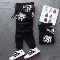 2017 Mode Chien Patte Impression Hommes Pantalon Baggy Harem Long Pantalon Vêtements Pantalon de Survêtement Hip-Hop Pantalon Plus La Taille S-5XL