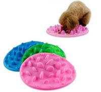 Wholesale Eating Dishes - Excellent Soft Silicone Jungle Dish Pet Slow Eat Feeder Dog Cat Slow Bowl Reduce Weight Anti Choke Interactive Feed Bowl LLFA