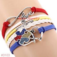 Wholesale infinity hope - Wholesale-2016 New Arrival Autism Awareness Bracelet Infinity Hope Rhinestone Puzzle Piece Charm Bracelet 6Pcs Lot ! Free Shipping!