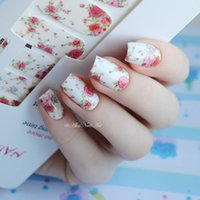 14pcs / Sheet Flowers Nail Wraps Red Rose Nail Art Adesivi completi NATO PRETTY MDS1013 # 23251