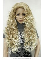 Wholesale Spiral Headbands - peruca hair queen Colored HOT Free Shipping >>>Fashion Blonde Long Spiral Curls Women Ladies Daily Full Hair wig