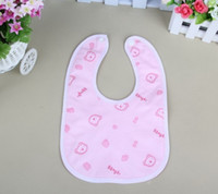 Wholesale Health Cloths - 3 models wholesale cartoon animal health security dot velvet baby bibs waterproof double Bibs & Burp Cloths