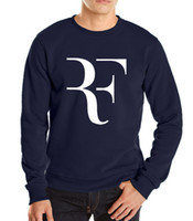 Wholesale Thick Sweatshirt Top Hoodie - Wholesale- 2016 new Autumn winter fashion Roger Federer RF male fleece hoodie brand clothing sweatshirt man harajuku hoodies top hoodies