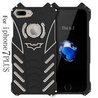 Wholesale Iphone 5s Case Luxury Aluminum - BATMAN Series Luxury Doom Heavy Duty Armor Metal Aluminum Mobile Phone Cases For apple iPhone 7 5 5S 6 6S PLUS Bags