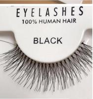 false hair großhandel-Heißer Verkauf 50 Paare ROTE KIRSCHE falsche Wimpern 100% handgemachte Haar-Streifen-Peitsche-gefälschte Wimpern S M L