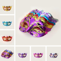 Na Venda Máscaras para festas Mascarada Venetian Mask Máscara de Halloween Máscara de dança de carnaval sexy Cosplay Fancy Wedding Gift Mix Color IB393