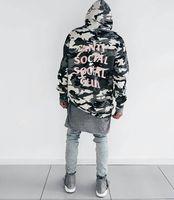 Wholesale Sweatshirts Leopard - Spot Anti Social Social Club assc Camouflage Sweatshirt kanye show assc