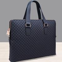 Wholesale Slotted Head - Wholesale- 2017 Genuine Leather Solid Men Briefcase Men Messenger Bags New Leather Handbag Men's Head Business Bag Double Zipper Shoulder